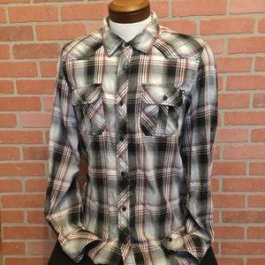 I Jeans by Buffalo Mens Western Shirt large (3M42)